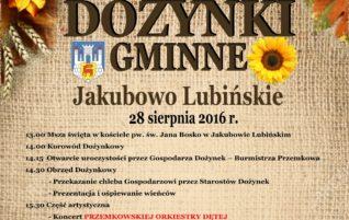 Dożynki Gminne w Jakubowie Lubińskim – 28.08.2016r