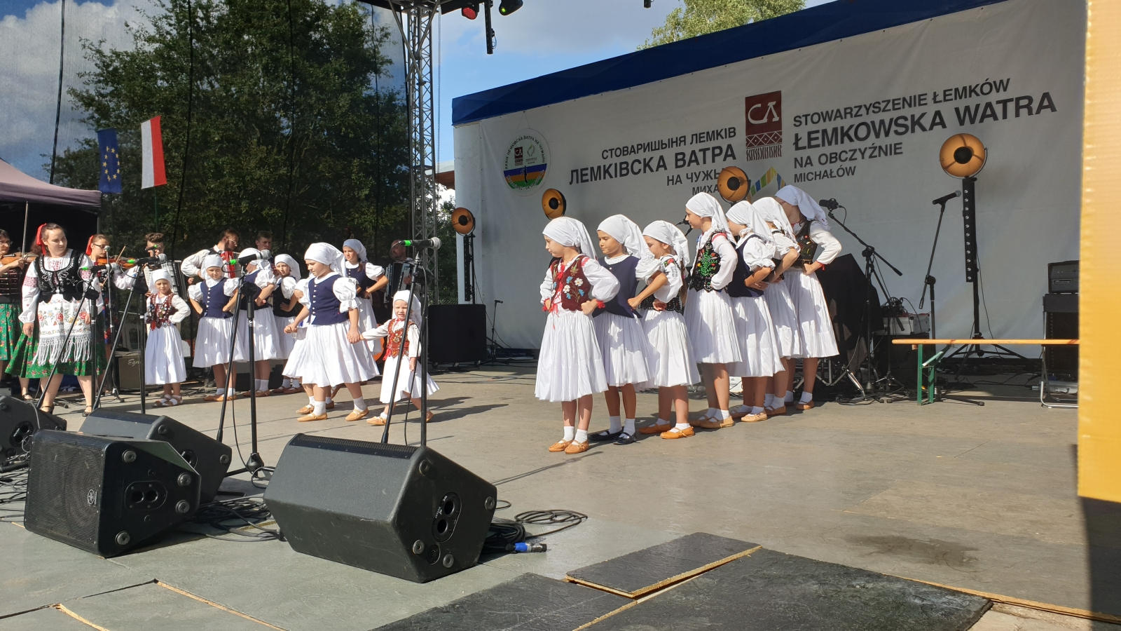 Łastiwczata na występach w Michałowie
